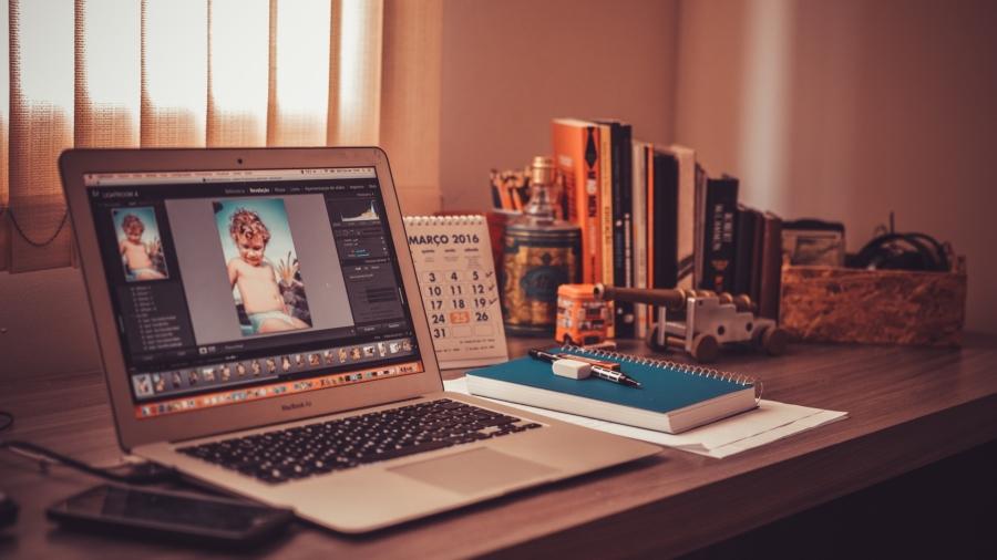Laptop on Desk, Josh Decaire, Digital Marketing Freelancer Kingston